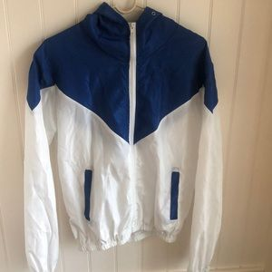 Blue And Whire Windbreaker